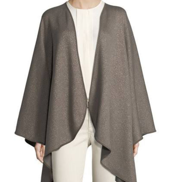 Greay Cashmere Cape