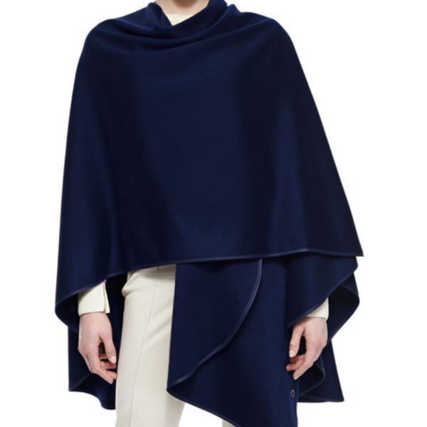 Navy Blue Cashmere Cape