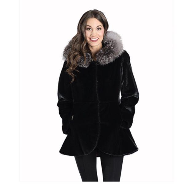 Seal Fox Hood Trim Jacket